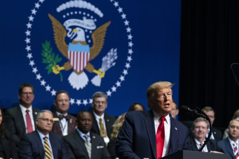 President-Donald-Trump-speaks-at-the-North-Carolina-Opportunity-Now-Summit,-at-Central-Piedmont-Community-College,-Friday,-Feb.-7,-2020,-in-Charlotte,-N.C.-AP-Photo-Evan-Vucci